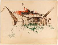 Artist: Deineko, Olga Konstantinovna : Abandoned House