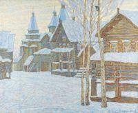 Artist: Chetverikov, Albert Agafonovich : Nowgorod. Dorf