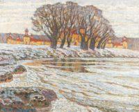 Artist: Chetverikov, Albert Agafonovich : Frühling. Am Abend
