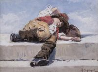 Artist: Makovsky, Alexandr Vladimirovich : Спящий мальчик