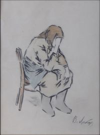 Artist: Lebedev, Vladimir Vasilievich : Женщина на стуле