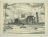 Artist: Dobuzhinsky, Mstislav Valerianovich : Землесос. Лист из серии 12 автолитографий Петербург в 1921 году