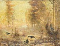 Artist: Zandin, Mikhail Pavlovich : Лесной пейзаж с тетеревами