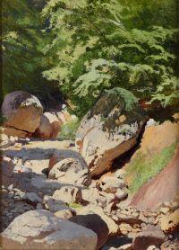 Artist: Shilder, Andrey Nikolaevich : Ручей в каменистом русле