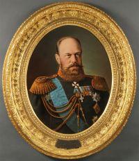 Artist: Shilder, Nikolay Gustavovich : Portrait of Emperor Alexander III