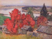 Artist: Vakhrushov, Feodosy Mikhailovich : Багряная осень
