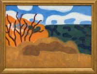 Artist: Ratner, Vladislav Isaakovich : Пейзаж в охристых тонах