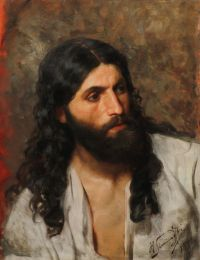 Artist: Semiradsky, Henryk Ippolitovich : Portrait of a Bearded Man (Likely a study of Christ for the painting «Christ and the Samaratin»)