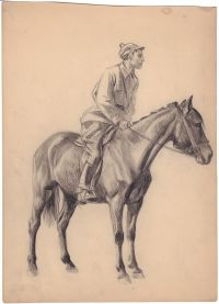 Artist: Kochergin, Nicolay Mikhailovich : Красноармеец на лошади