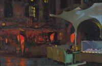 Artist: Anikin, Vasily Valerievich : Ночь, улица, кафе