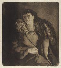 Художник: Боровская, Анна Казимировна : Портрет женщины в пальто