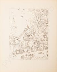 Artist: Kustodiev, Boris Mikhailovich : Домик. Лист из альбома «Шестнадцать автолитографий»