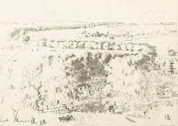 Artist: Kustodiev, Boris Mikhailovich : Большая дорога. Лист из альбома «Шестнадцать автолитографий»