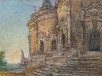 Artist: Sredin, Alexandr Valentinovich : Церковь знамения пресвятой богородицы в Дубровицах
