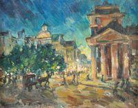 Художник: Коровин, Константин Алексеевич : Street by night in Paris