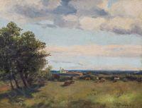 Artist: Marten, Dmitry Emilievich : Пейзаж с коровами