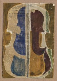 Artist: Pougny, Ivan Albertovich : Скрипка. Коллаж