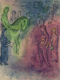 Artist: Chagall, Marc : Arrival of Dionysophanes. From «Daphnis and Chloe»