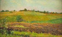 Artist: Levitan, Isaak Iliich : Летний пейзаж. Пашня