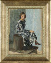 Artist: Rerberg, Fedor Ivanovich : Сидящая девушка