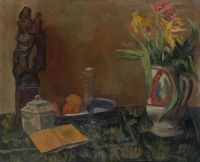Artist: Feder, Adolphe : Still Life with Statue