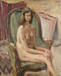 Artist: Naidich, Vladimir Isaakovich : Frauenakt im Sessel