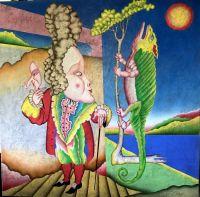 Artist: Chemiakin, Mikhail Mikhailovich : Noon with a chameleon