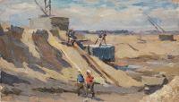 Artist: Nazarov, Konstantin Borisovich : Братск строится. Серия «Братская ГЭС»