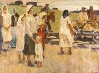 Artist: Vladimirov, Ivan Alexeevich : Abschiednehmende Bauern