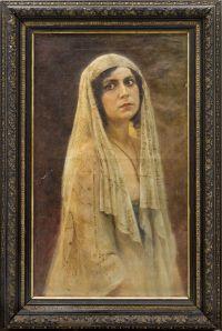 Artist: Bodarevsky, Nikolay Kornilievich : Портрет в образе Суламифи (предположительно, Айседора Дункан)