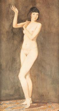 Artist: Bodarevsky, Nikolay Kornilievich : Stehender Frauenakt