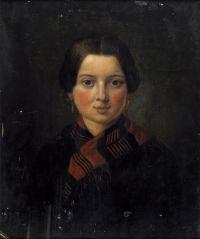 Artist: Rachkov, Nikolay Efimovich : Женский портрет