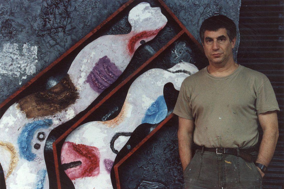 Владимир Янкилевский в своем ателье в Нью-Йорке. 1992