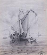 Artist: Kulkov, Mitrofan Platonovich : Рыбачья шхуна
