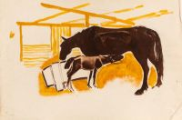 Artist: Troshin N.S. | Deineko O.K. : Horses in a Stall