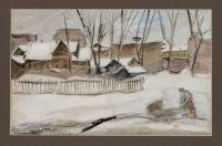 Artist: Bezzubov, Yury Ivanovich : Зимой на прогулке