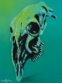 Artist: Sokolov, Kirill : Зеленый. Из серии «Черепа»