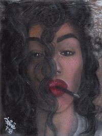 Artist: Sokolov, Kirill : Женщина с сигаретой