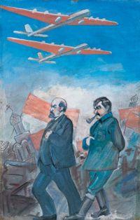 Художник: Чернов, Александр Алексеевич : Ленин и Сталин