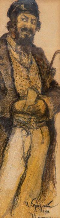 Artist: Brodsky, Isaak Izrailevich : Портрет еврейского торговца