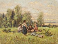 Artist: Burkhardt, Fedor Karlovich : Крестьянские дети