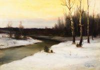 Artist: Berggolts, Richard Alexandrovich : Зимний пейзаж