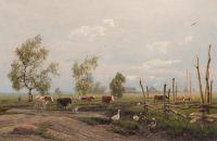 Artist: Hoffman, Oscar Adolfovich : Деревенское стадо