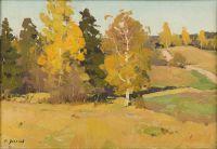 Artist: Uliyanov, Nikolay Ivanovich : Осенний пейзаж