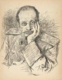 Artist: Repin, Iliya Efimovich : Портрет композитора Ц.А. Кюи