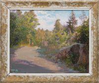 Artist: Levi, Vasily Filippovich : Пейзаж с дорогой