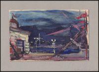 Artist: Glazunov, Iliya Sergeevich : Вид на пристань