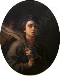 Artist: Shiltsov, Pavel Savvich : Мальчик с петухом