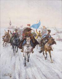 Artist: Stoilov, Konstantin : Казачий обоз