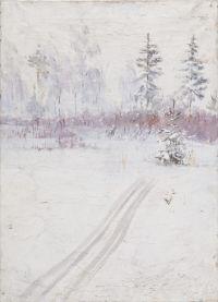 Artist: Vyalov, Konstantin Alexandrovich : Зимняя дорога в лесу